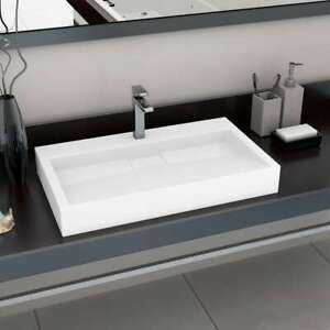 vidaXL-Wash-Basin-80cm-Mineral-Cast-Marble-Cast-White-Countertop-Bathroom-Sink