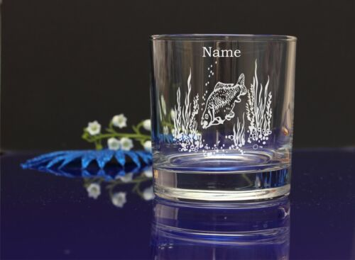 Personalised FISH design SPIRIT Glass CHRISTMAS BIRTHDAY WEDDING// GIFT PRESENT25