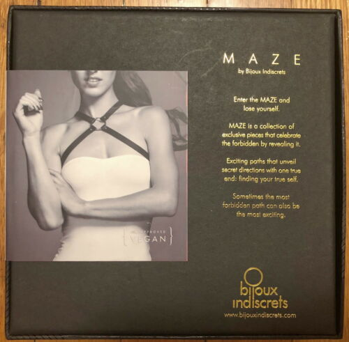 Cross s Harness O Nwt box Chest Maze Vegan Bijoux Brown Indiscrets Leather In wvqZW4A4E