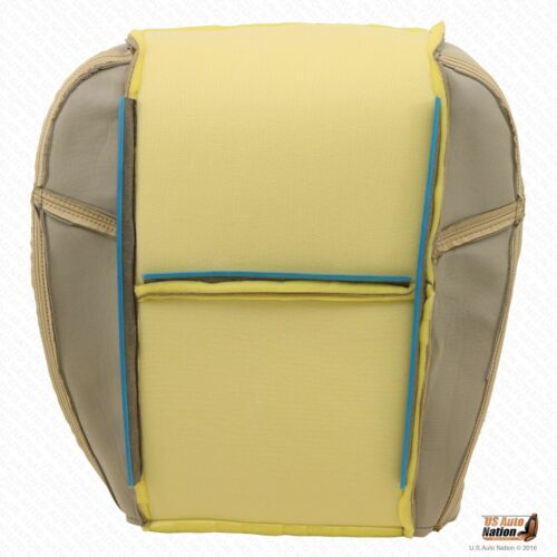 Driver Side Bottom Replacement Leather Seat Cover Tan 2008 Cadillac Escalade