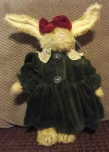 Boyds Bear Plush Emily Babbit Rabbit Hare  Holiday Outfit New Limited Edition
