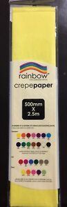 NEW-PREMIUM-QUALITY-CREPE-PAPER-50CM-X-2-5M-YELLOW-EXTRA-LARGE