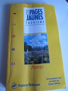 Details about Vintage 1997 French Tourism Yellow Pages Phone Book Paris  Jaune P/U W Footscray