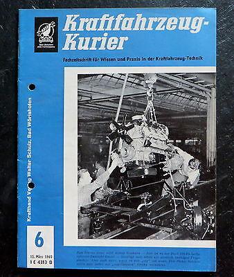 Berichte & Zeitschriften Hart Arbeitend Kraftfahrzeug-kurier 06/60 Federn,autoheizungen+klima-anlagen,dichtung,roll-over