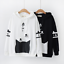 Japanese-Styles-Lovely-Cat-Paw-Printed-Hoodie-Long-Sleeve-Lolita-Tops-2Colors thumbnail 1