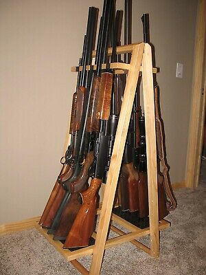 Gun Rack Floor Display Holds 10 Guns Hunting Cabin Rv