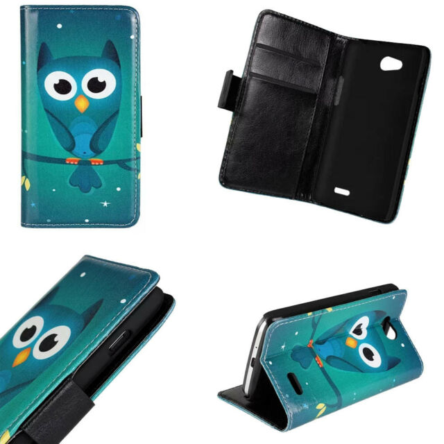 Cute Green Owl Folio Flip Wallet Leather Card Stand Case Cover For Various Phone