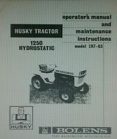 Bolens 1250 Garden Tractor & Transmission Owner, Parts & Service (3 Manuals)58pg