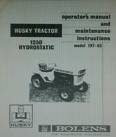 Bolens 1250 Garden Tractor & Transmission Owner, Parts & Service (3 Manuals)58pg