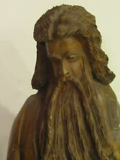 Vintage Moses Ten Commandments Statue  Carved Olive Wood Wonderful Details