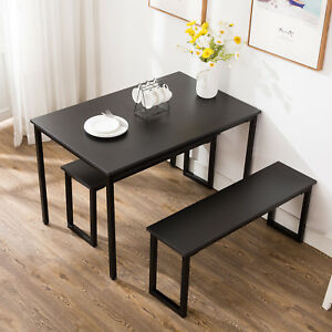 3-Piece-Dining-Table-Set-2-Chairs-Bench-Kitchen-Dining-Room-Breakfast-Nook-Black