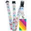 High-quality-ID-badge-holder-RAINBOW-STRIPES-amp-Secure-Lanyard-neck-strap-soft thumbnail 30