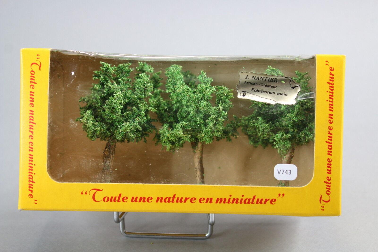 V743 FR maquette Ho train diorama rare boite 8623 silverne arbre size 90 mm