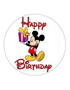 54 X Happy Birthday Mickey Mouse Edible Wafer Fondant Paper Cup Cake