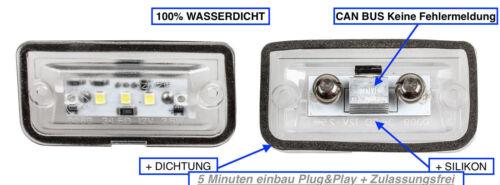 1103-4D 2x TOP LED SMD Kennzeichenbeleuchtung Mercedes CLK W209 Coupe