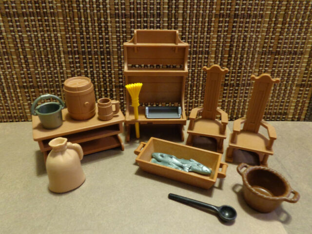 Medieval Bakery, Kitchen, Table Chairs, Asst Accessories, Beer Keg & Mug, Trough