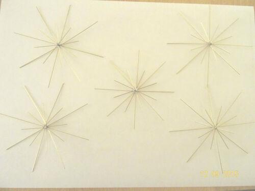 Perlen strahlig Sterne 16 5 Drahtsterne doppelt 8//10 cm Perlensterne