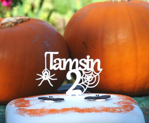 Personalised Halloween Spider Cake Topper Decoration