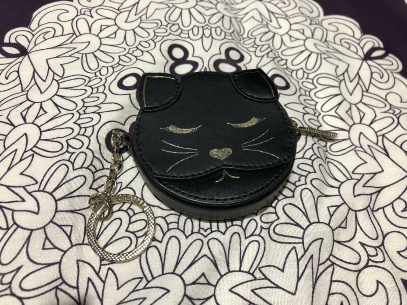 Bn Ted Baker Leather Cat Charm Purse