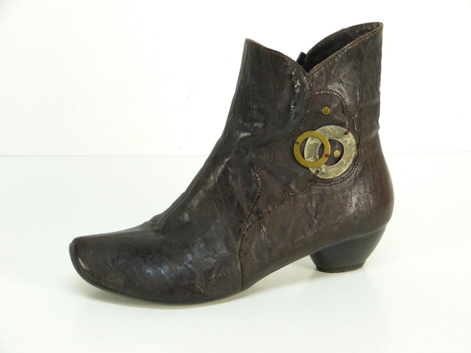 Think cuero botas talla 38 marrón & lujo pur-cuero (l (l (l 7107)  gran descuento