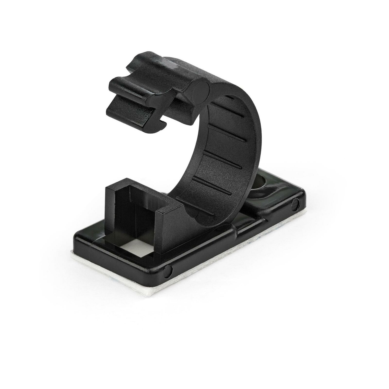 StarTech.com 100 Adhesive Cable Management Clips Black - Network/Ethernet/Off...