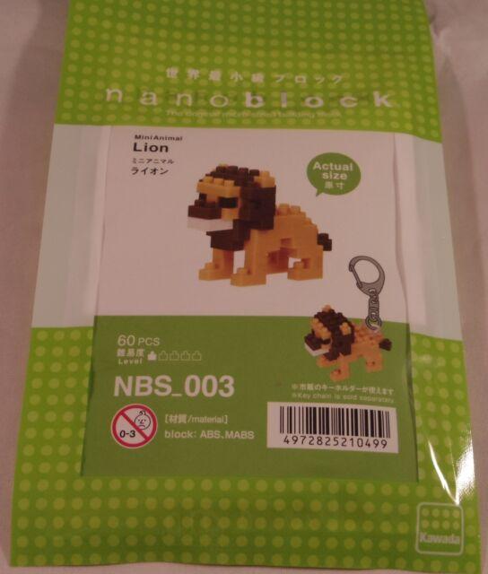 Kawada nanoblock Mini Animal Lion japan building toy NBS/_003 Worldwide