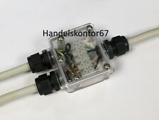 1x Verbindungsbox-Verteiler klar Erdkabel 5-polig Verbinder IP68 230V => aus DE