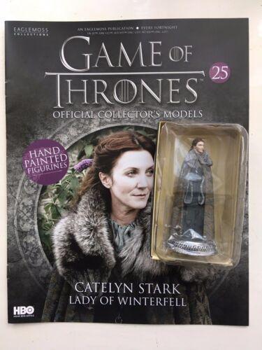 Game Of Thrones Issue 25 Catelyn Stark eaglemoss figurine figure modèle du capteur