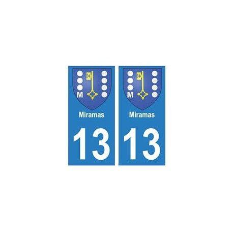 13 Miramas ville autocollant plaque arrondis