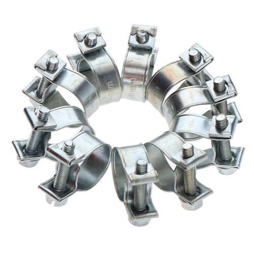 10Pcs Mini Fuel Injection Style Hose Clamps Adjustable Hose Clip Assortment Kit