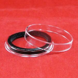 3 Air-tite 42mm Black Ring Coin Holder Capsules