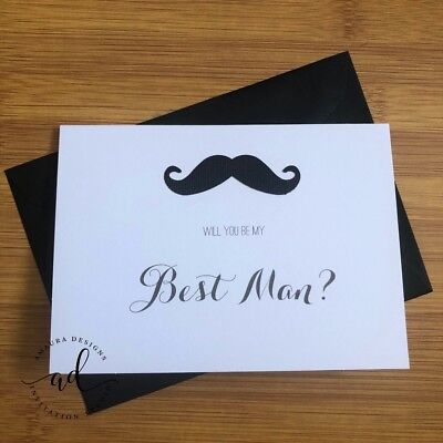 Will You Be My Best Man Card & C6 Envelope Wedding Invitation Cards Bridal  Cards | eBay