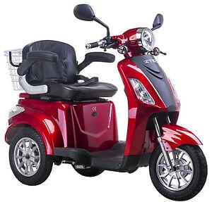 Elektromobil-E-Mobil-Seniorenfahrzeug-E-Dreirad-25-Km-h-Rot