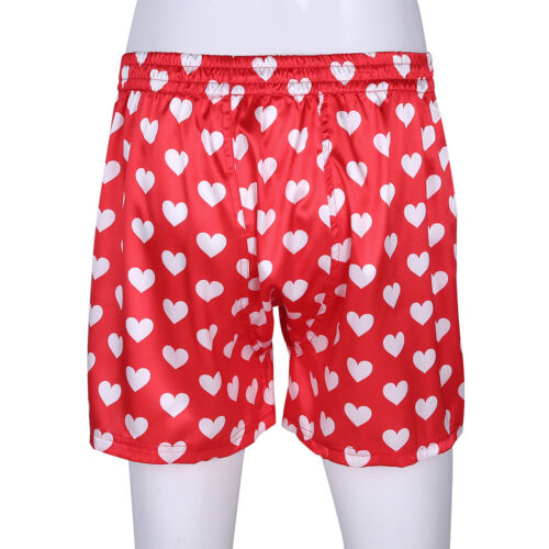 Classic Mens Love Heart Print Sport Pants Brief Boxer Shorts Trunk Underwear
