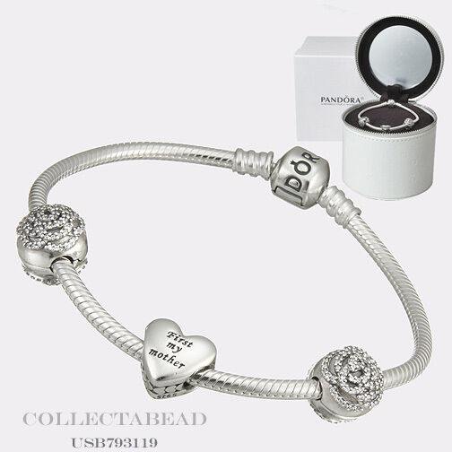 "Authentic Pandora Bouquet of Love Mothers Day Gift Set 2015 7.5""  USB793119"