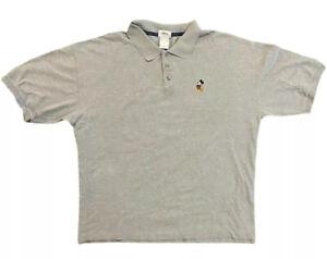 Mickey Mouse Walt Disney World Gray Polo Shirt Men's 2XL