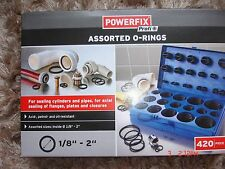 """POWERFIX Assorted O-Rings -420 Pieces Set -Sealing Cylinders and Pipes -1/8 - 2"""""""