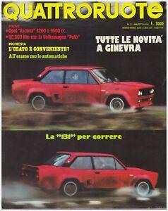 QUATTRORUOTE-3-1976-VOLKSWAGEN-POLO-OPEL-ASCONA-1200-SL-1600-SR