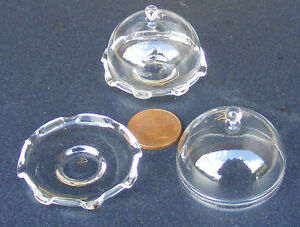 1-12-Scale-Glass-Cake-Stand-amp-Cover-Dolls-House-Miniature-Food-Accessory-G19XL