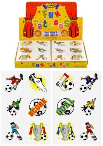 FROM UNDER 5p TEMPORARY FOOTBALL TATTOOS CHILDREN KIDS LOOT PARTY BAG FILLERS