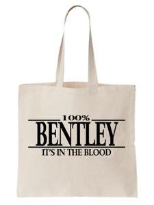 Bentley-Familienname-Schultertasche-Einkaufstasche-Geschenk-Baum-cool