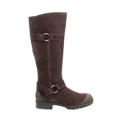 Clarks Faralyn Dawn Dark Brown suede Ladies knee Boots size 4 37 D RRP
