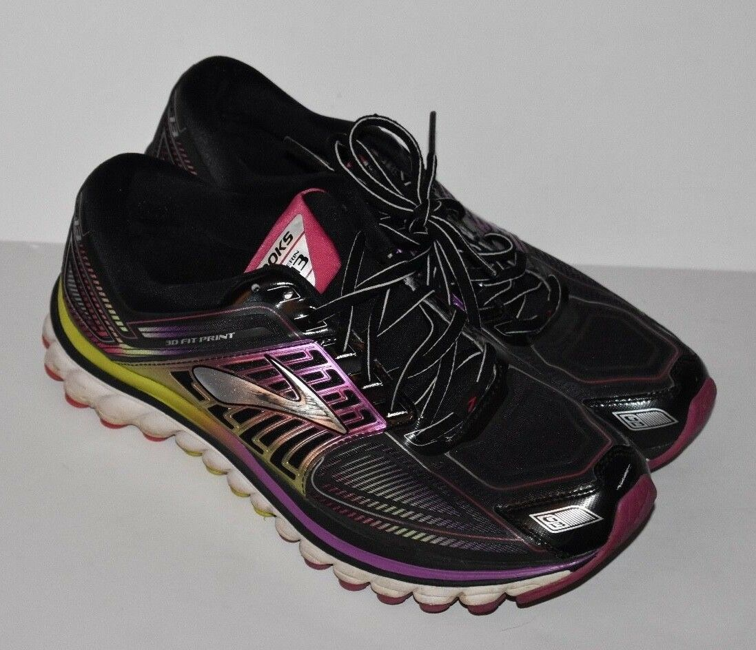 online store c58b7 ea450 BROOKS GLYCERIN G13 femmes RUNNING Chaussures SIZE 11 noir PURPLE NEON  1201971D019