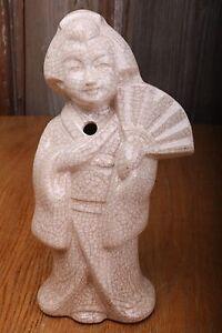 Vintage Benihana of Tokyo Crackle Geisha Tiki Mug Glass Cup White Ceramic