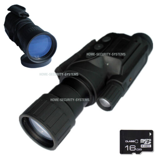 Camera Vision Night Digital NV 8GB Goggles Monocular Cam Security Camera Tracker