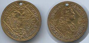 M351 Karl Vi 1711-1740 Für Charivari Medaille Österreich 1/4 Taler Nb 1735