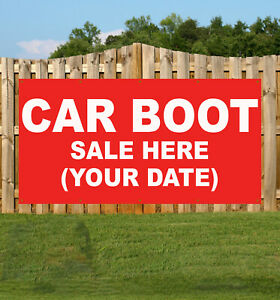 Car Boot Sale Here Market Custom Date Banner Promotional Pvc Various