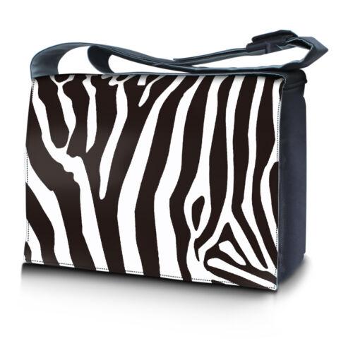 """15.6/"""" 15/"""" Laptop Notebook Padded Compartment Shoulder Messenger Bag Zebra 15N06"""