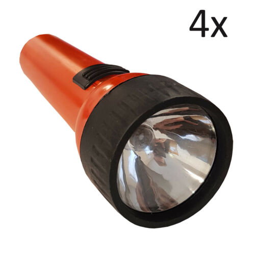4 x TORCHES camping flash light hiking torch caravan motorhome