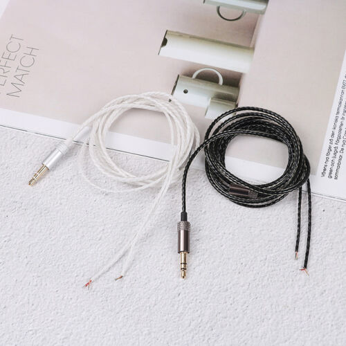 3.5mm Jack DIY Earphone Headphone Audio Cable Repair Replacement Cord Wire120CTO